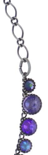 Konplott Water Cascade steinbesetzte Halskette in lila #5450543772981