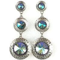 Konplott Rivoli Concave blau/lila crystal paradise shine Ohrstecker hängend #5450543324555