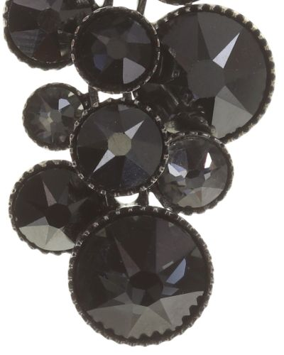Konplott Water Cascade Ohrstecker in schwarz antik silber #5450543686110