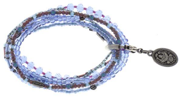 Konplott Petit Glamour d'Afrique Armband in lila/blau #5450543722351