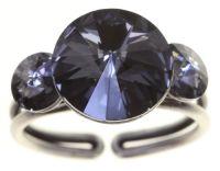 Rivoli Ring in grau crystal night fall