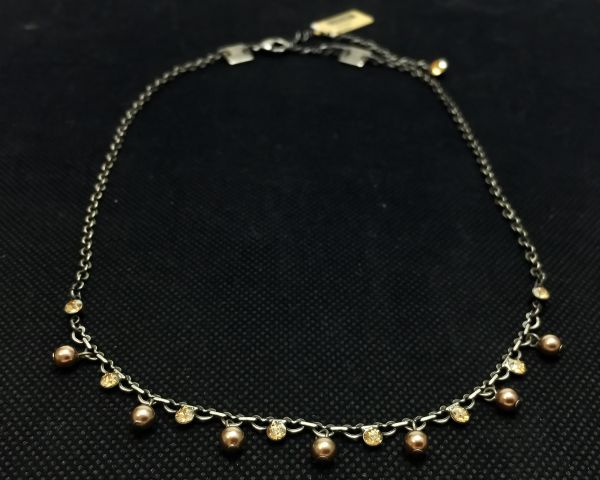 Konplott Pearl Shadow crystal golden shadow Halskette partiell steinbesetzt #5450527598705