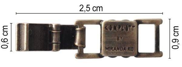 Konplott Armband Verlängerung groß in silber #5450527800464