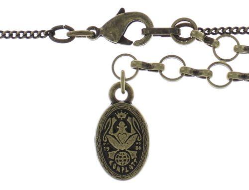 Konplott Inside Out Halskette mit Anhänger Größe L in braun #5450543638492