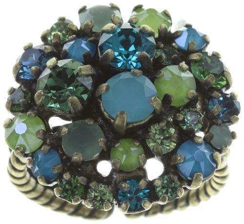 Konplott Ballroom Ring in blau/grün #5450543725901