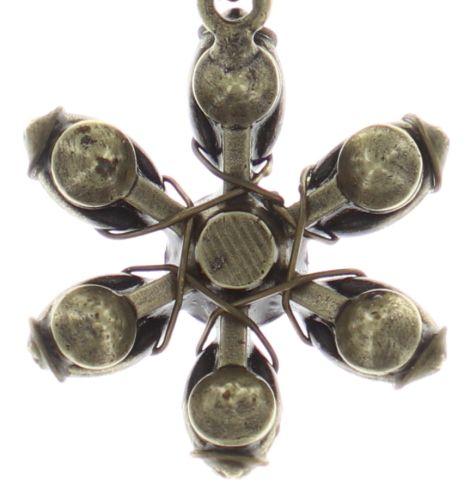 Konplott Psychodahlia Halskette mit Anhänger in gelb Messing #5450543730479