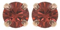 Black Jack Ohrstecker in coralline padparadscha
