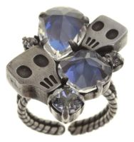 Konplott Pirates in Paris Ring weiß/grau, kristall, Totenkopf #5450543667157