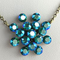 Magic Fireball blau/grüne Halskette mit Anhänger