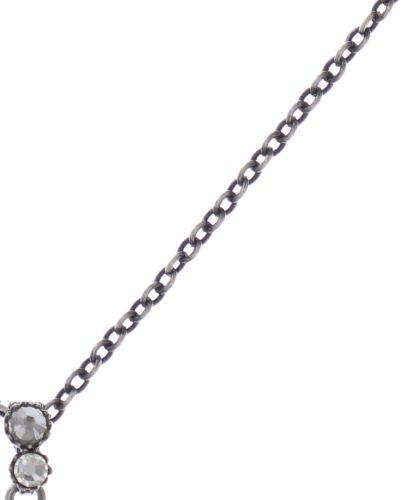 Konplott Water Cascade Halskette mit Anhänger in weiß antik silber #5450543686165