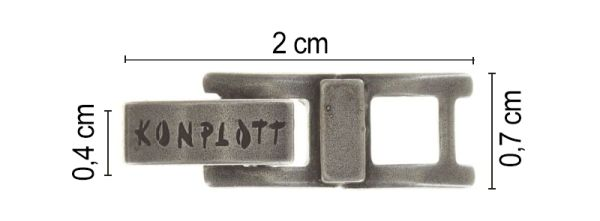 Konplott Armband Verlängerung klein in silber #5450527800495